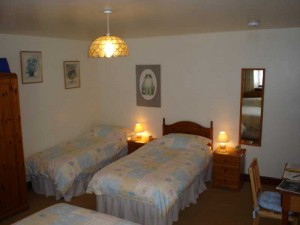 Barn Cottage family room with extra bed to sleep 4