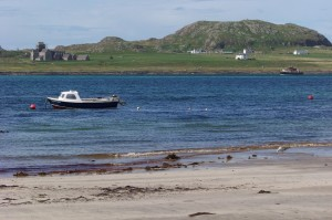 View from Fionnphort beach to Iona