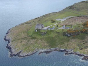 Duart Castle from the air
