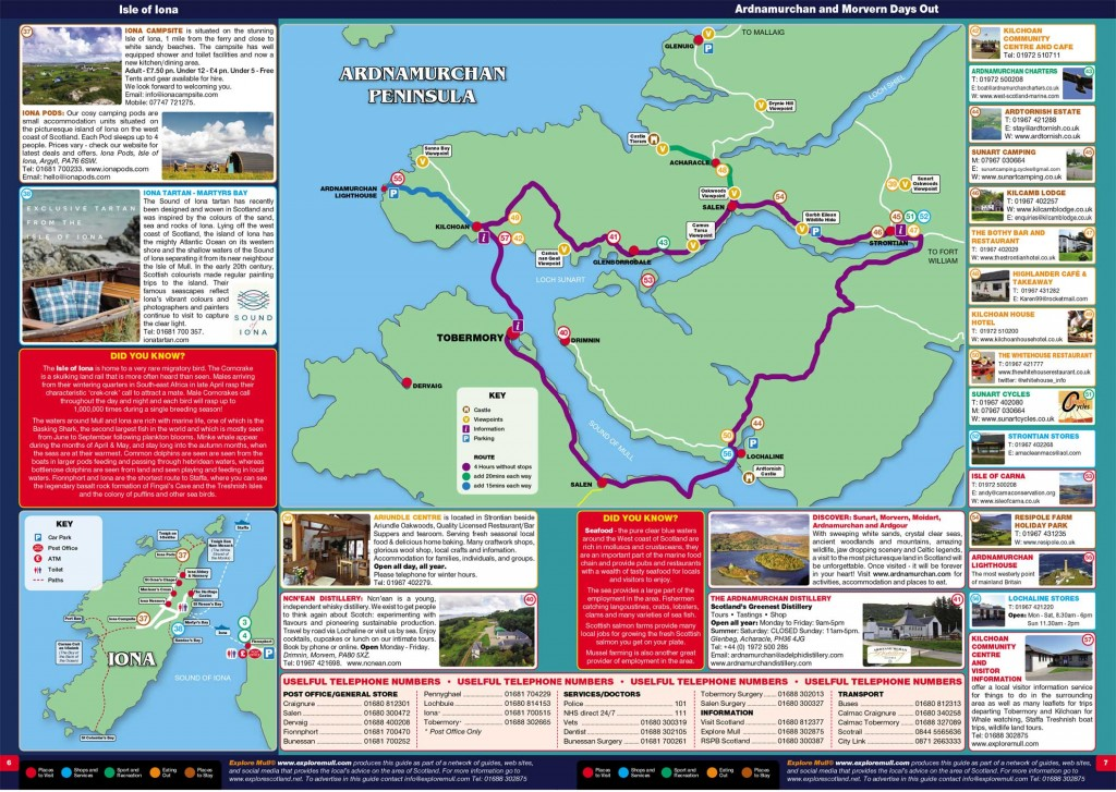 Ardnamurchan information map
