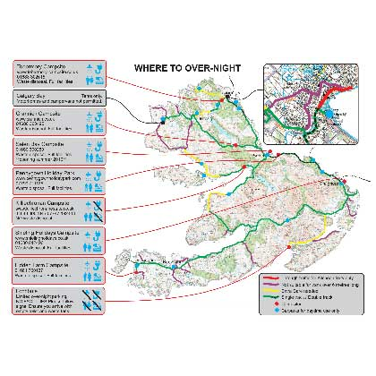 Motorhome and camping map