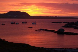 Summer Sunset over Iona seen from Seaview in Fionnphort
