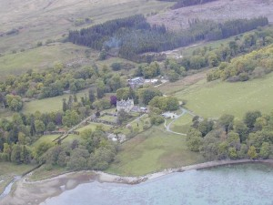 Torosay Castle from the air