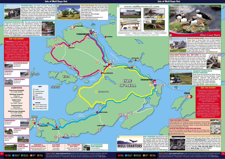 Isle Of Mull Map The Isle of Mull   The Isle of Mull