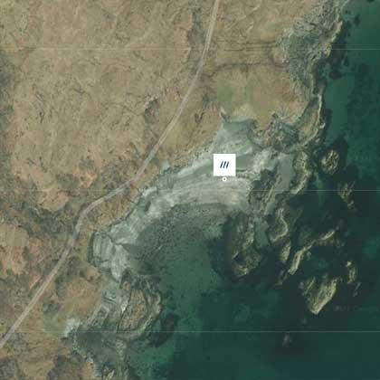 Croggan Beach Map