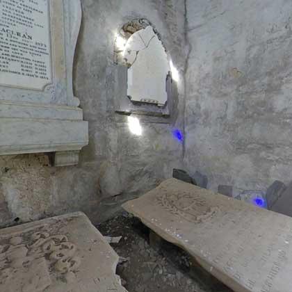Lochbuie Mausoleum Interior 360 Mull