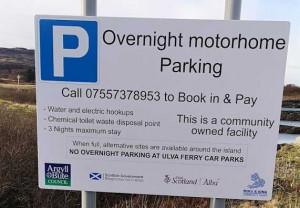Motorhome parking