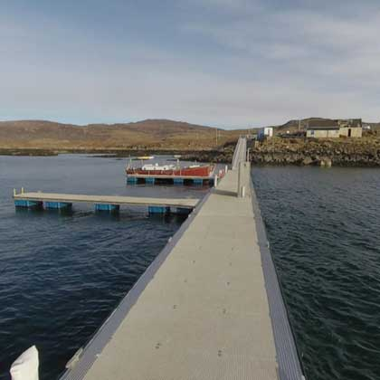 Ulva Ferry from the new pontoons