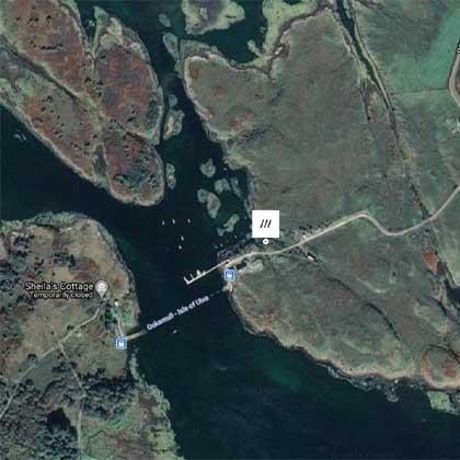 Ulva Ferry Campsite map